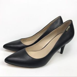 CalvinKlein Kimberly Pebbled Leather Pointed Heels